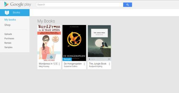 Google Play Store mijn boeken